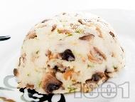 Гарнитура за месо от задушен грис с гъби печурки в тенджера